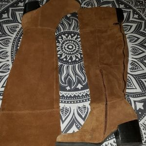 Steve madden suede over the knee boots size 9